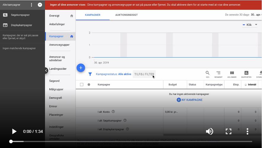 Sådan arbejder du med negative søgeord i Google Ads