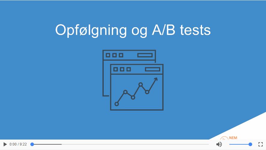 Opfølgning og A/B tests