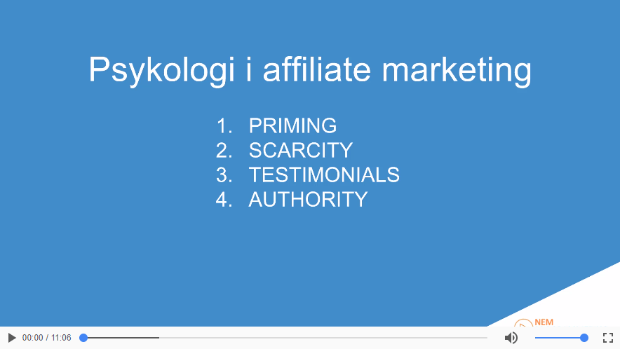 Psykologi i affiliate marketing