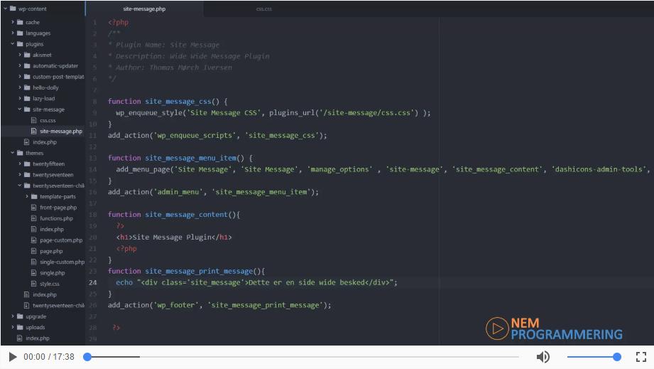 Sådan bruger du settings API´et i WordPress til dit plugin