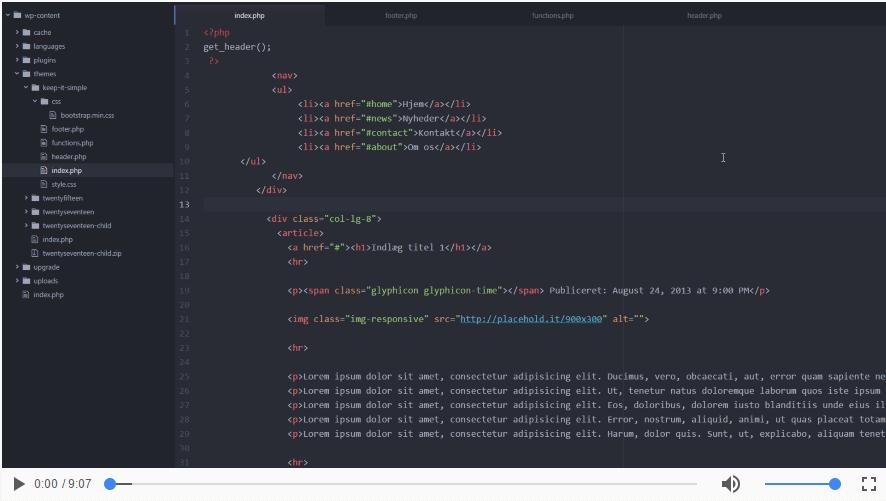 Sådan koder du 'the loop' i dit tema