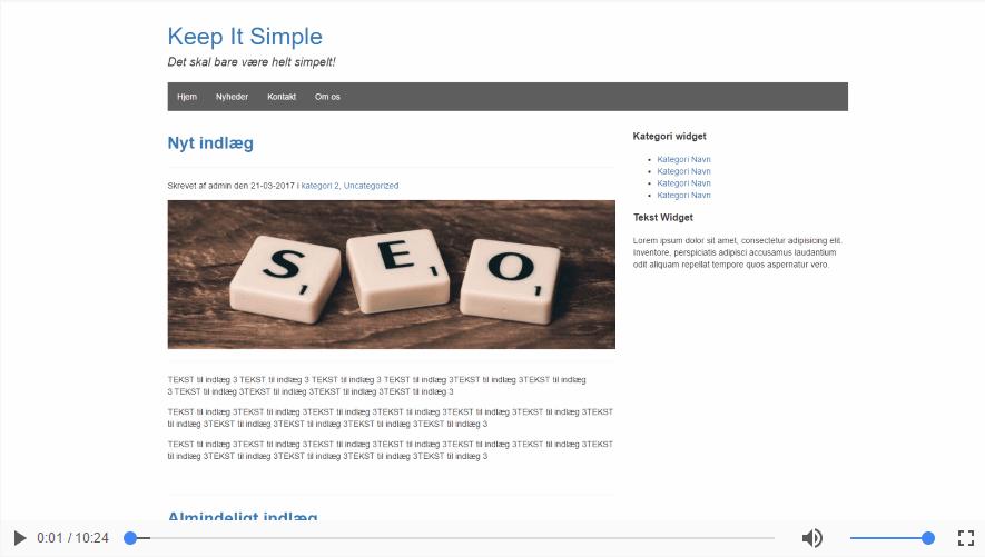 Sådan laver du din egen navigationsbar i dit WordPress tema