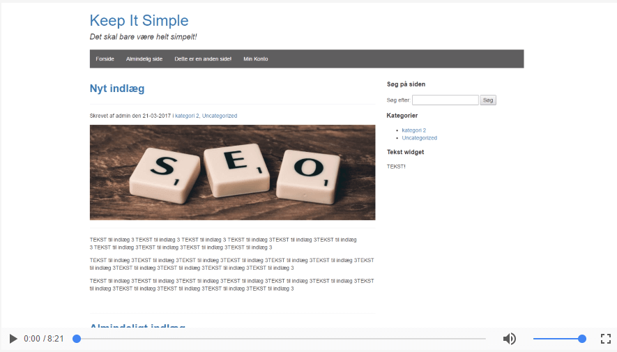 Sådan tilføjer du support for statisk forside i dit eget WordPress tema