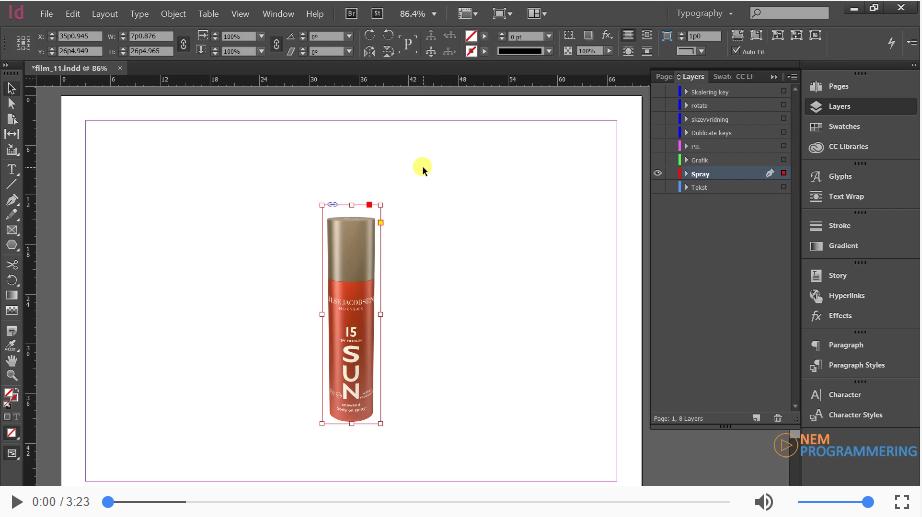 Transform tools | Skalering af objekter, f.eks. billeder, i InDesign