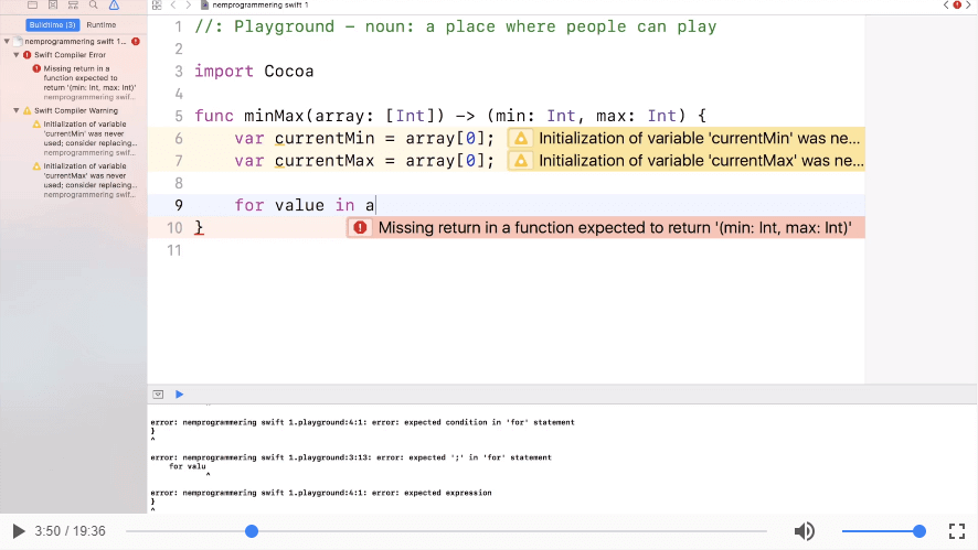 Udvidede funktioner i SWIFT programmering