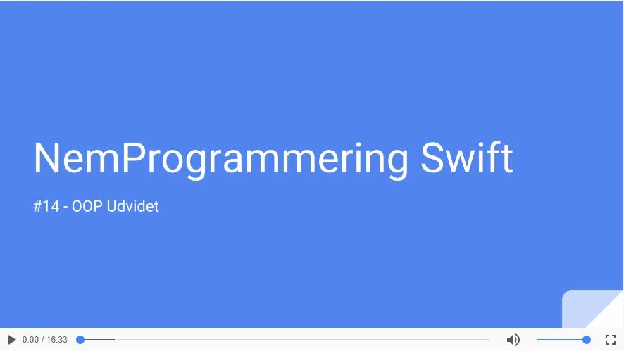 Udvidet OOP i SWIFT