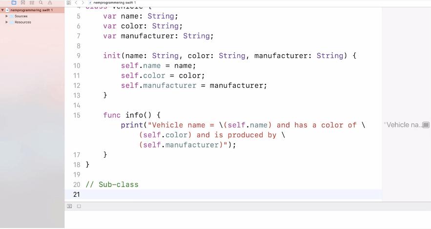 Nedarvning i SWIFT programmering