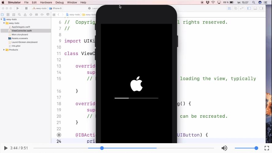 Forbindelse mellem kode og grafiske elementer | App Part 2
