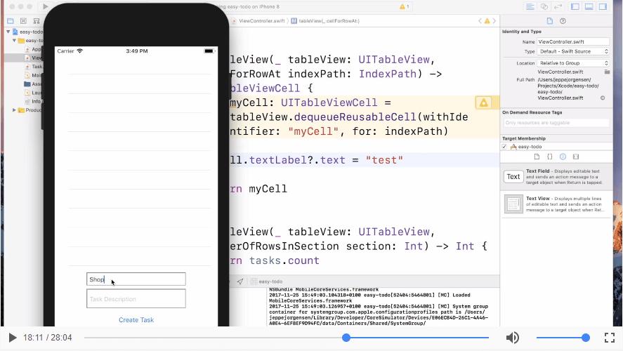Vis data i appen | App Part 4
