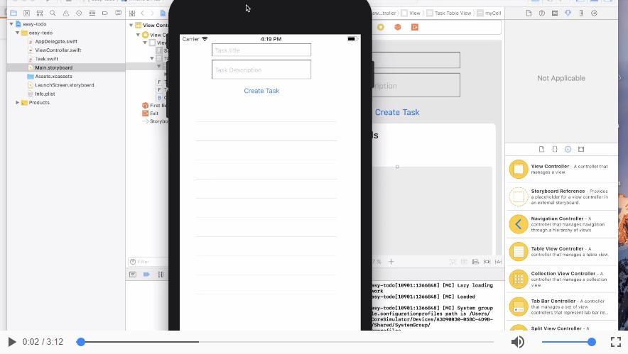 Vis task-beskrivelsen i app´en | App Part 5