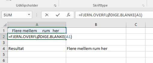 FJERN BLANKE EXCEL