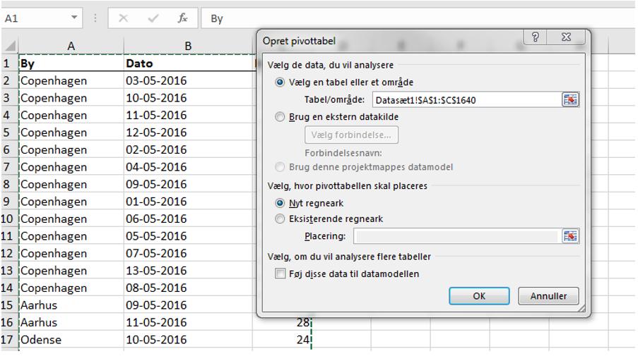 Excel pivottabel