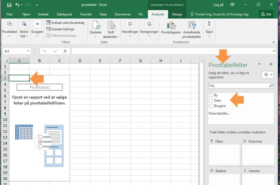 Pivottabeller i Excel