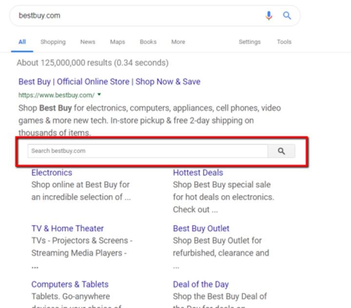 Schema markup til søgefelt i søgeresultaterne